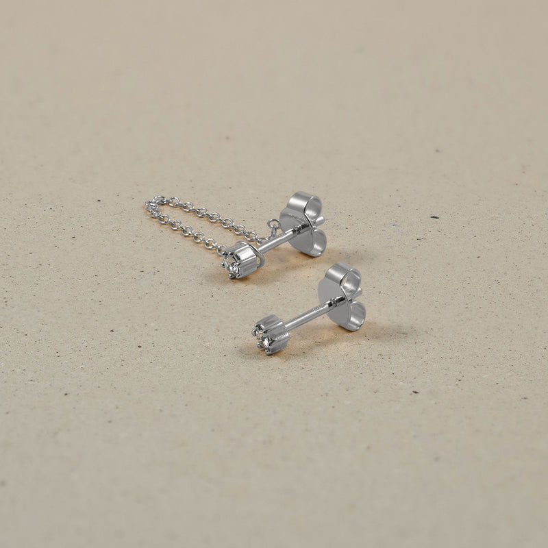 The Everyday Chain & Stud Earrings Jewelry Stilnest 925 Silver