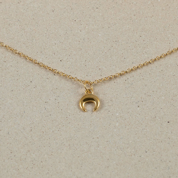 The Everyday Moon Choker Jewelry Stilnest 24ct Gold Vermeil Anchor Chain/Ankerkette 32+8cm