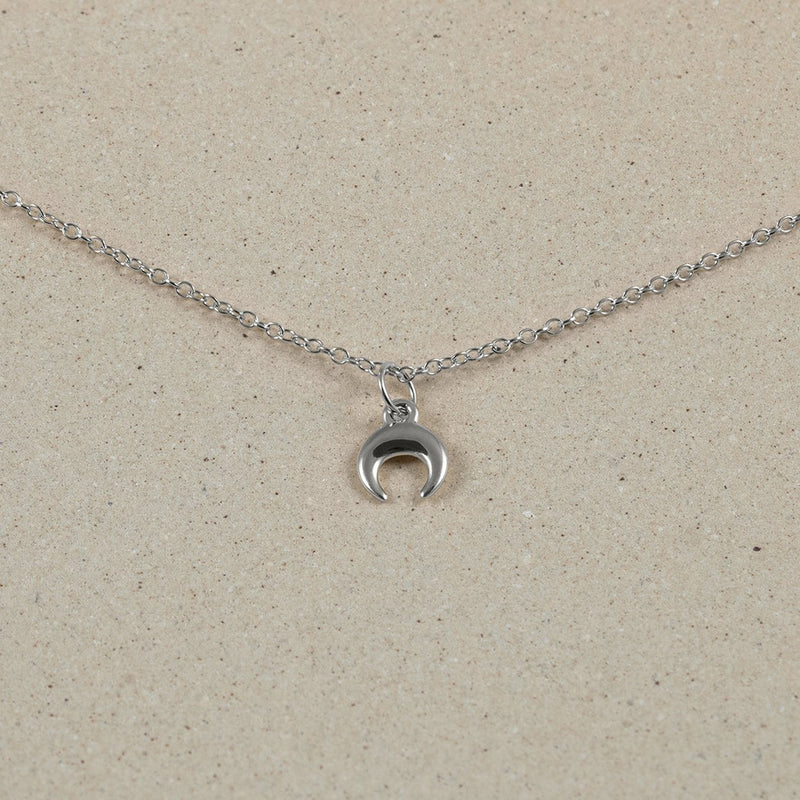 The Everyday Moon Choker Jewelry Stilnest 925 Silver Anchor Chain/Ankerkette 32+8cm