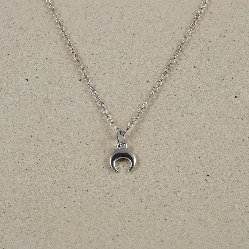 The Everyday Moon Necklace Jewelry Stilnest 925 Silver Anchor Chain/Ankerkette S (45cm)