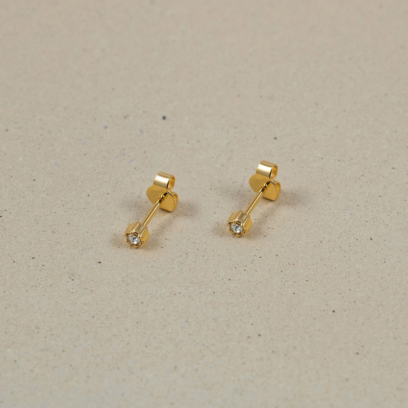 The Everyday Stud Earrings Jewelry Stilnest 24ct Gold Vermeil