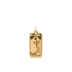 The Hermit Tarot Card Anhänger Jewelry jacko-wusch 24ct Gold Vermeil