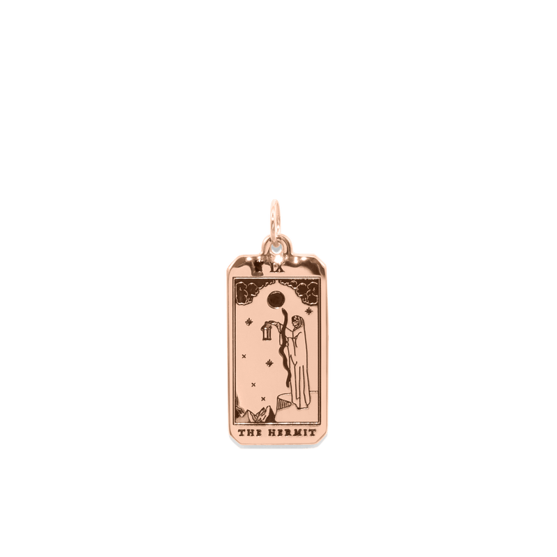 The Hermit Tarot Card Anhänger Jewelry jacko-wusch Rose Gold Vermeil