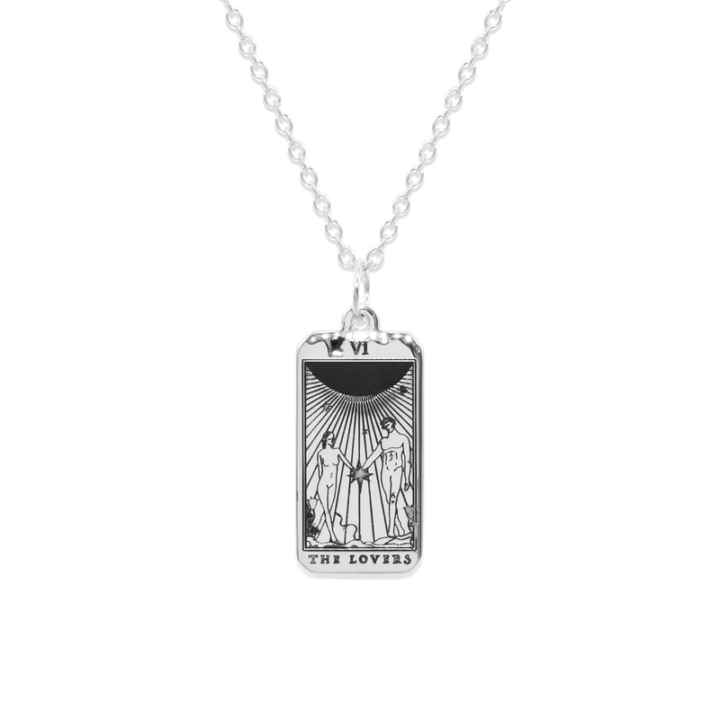 The Lovers Tarot Card Kette Jewelry jacko-wusch 925 Silver S (45cm)