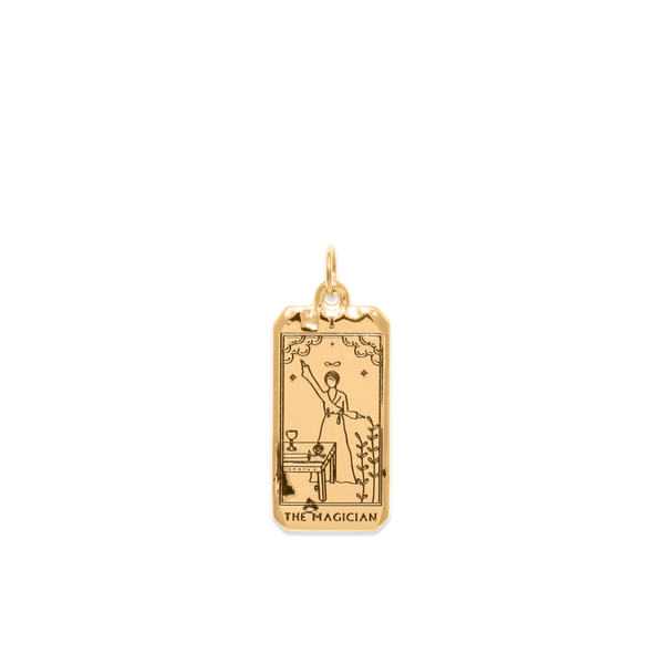 The Magician Tarot Card Anhänger Jewelry jacko-wusch 925 Silver Gold Plated