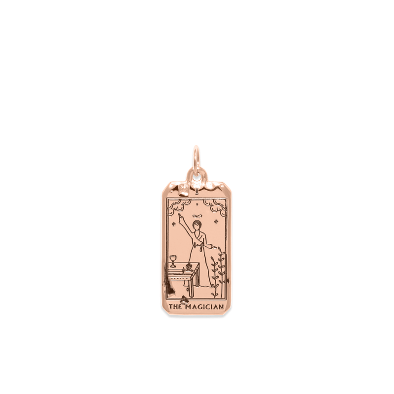 The Magician Tarot Card Anhänger Jewelry jacko-wusch 925 Silver Rose Gold Plated