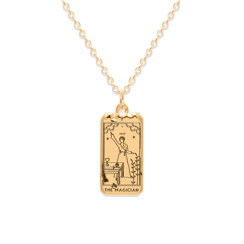 The Magician Tarot Card Kette Jewelry jacko-wusch 925 Silver Gold Plated S (45cm)
