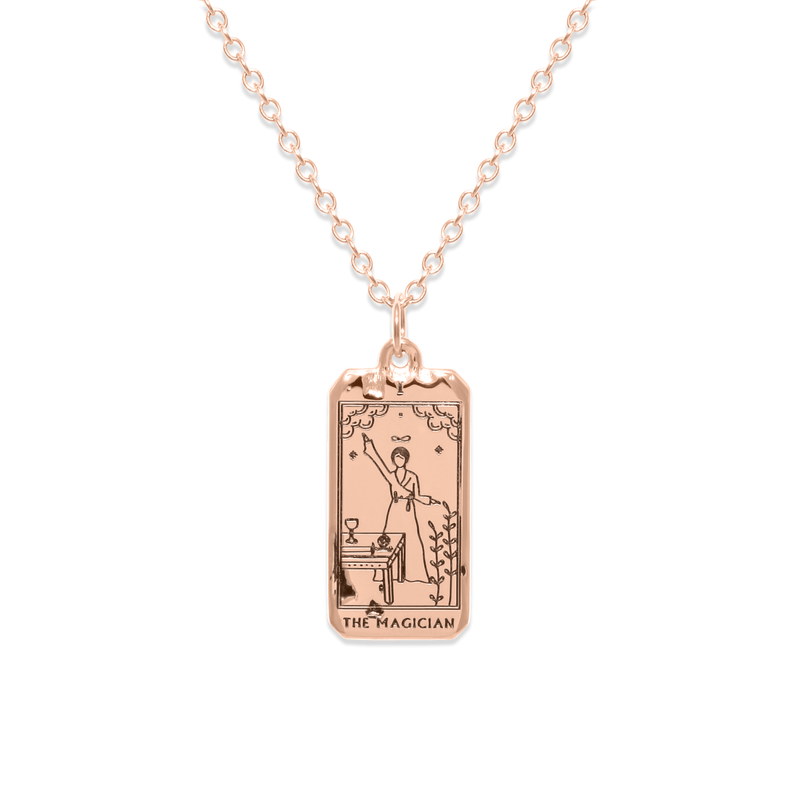 The Magician Tarot Card Kette Jewelry jacko-wusch 925 Silver Rose Gold Plated S (45cm)