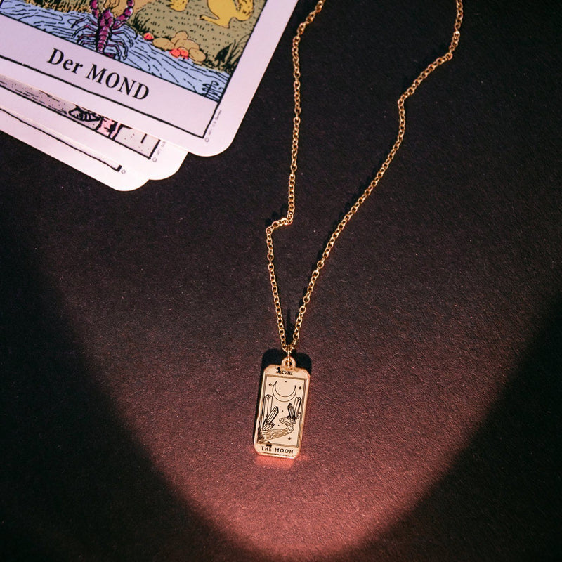 The Moon Tarot Card Kette Jewelry jacko-wusch