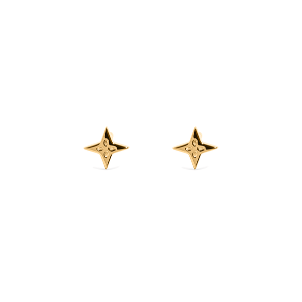 The Shooting Star Earrings (Pair) Jewelry useless 24ct Gold Vermeil