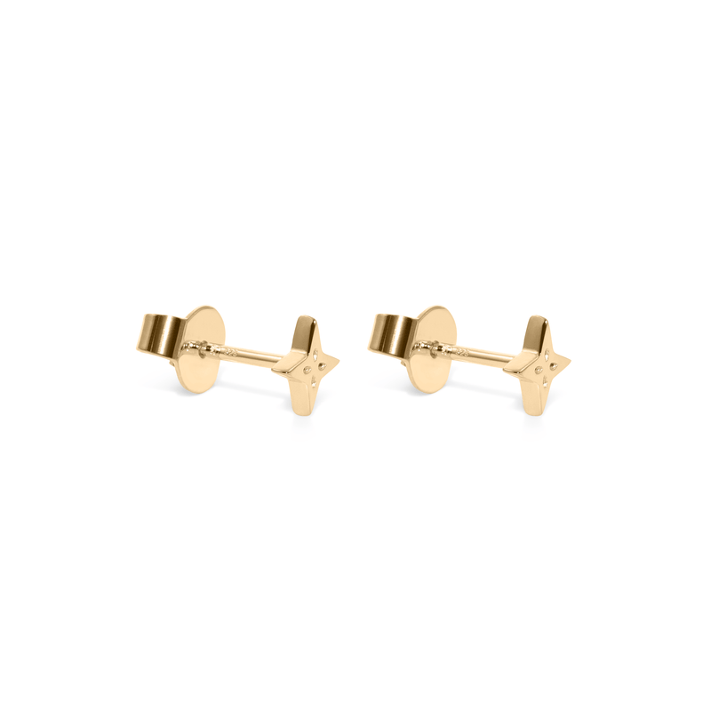 The Shooting Star Earrings (Pair) - Solid Gold Jewelry useless