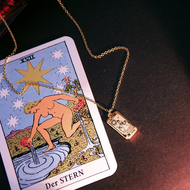 The Star Tarot Card Kette Jewelry jacko-wusch