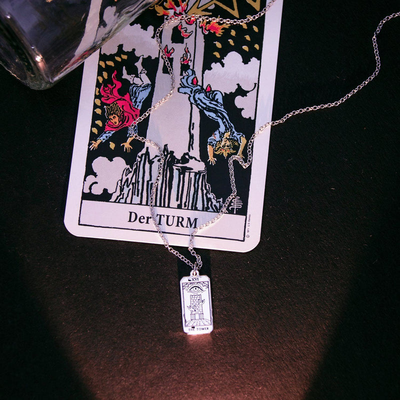The Tower Tarot Card Kette Jewelry jacko-wusch