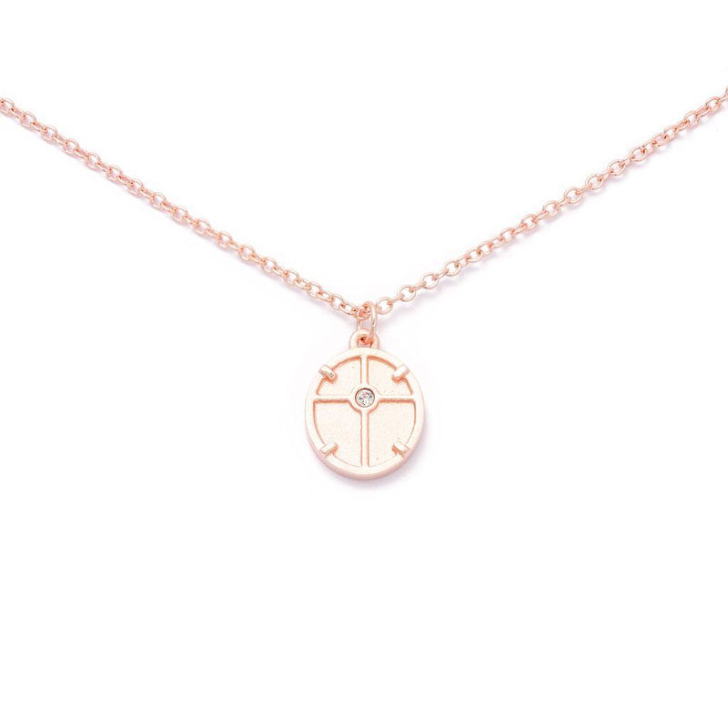 Theia Medal Choker Jewelry audrina-patridge 925 Silver Rose Gold Plated
