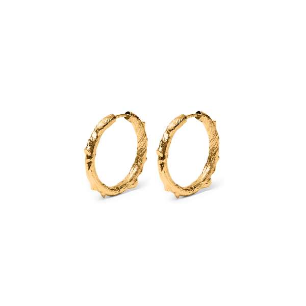 Thorn Ear Hoops Jewelry masha-sedgwick 925 Silver Gold Plated