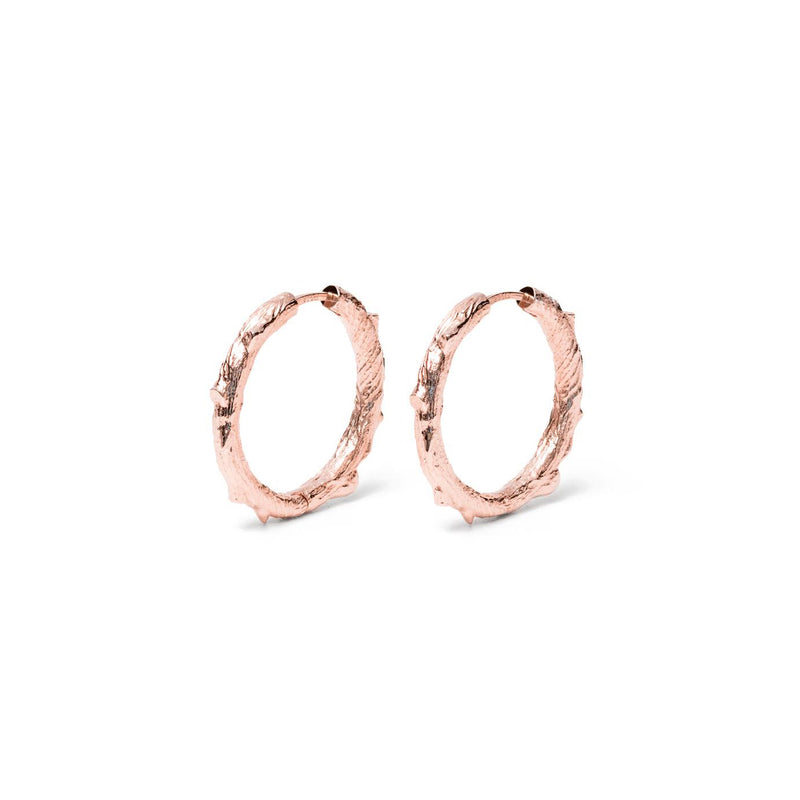 Thorn Ear Hoops Jewelry masha-sedgwick 925 Silver Rose Gold Plated