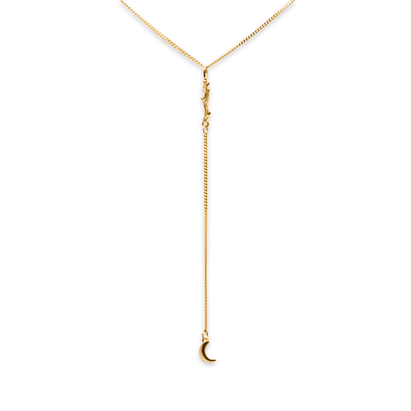 Thorn Lariat Kette Jewelry masha-sedgwick 925 Silver Gold Plated S (45cm)