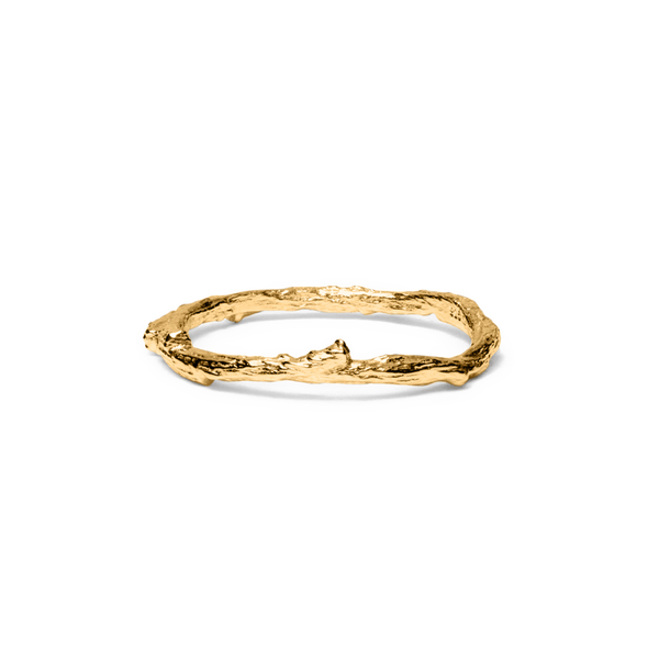 Thorn Ring Jewelry masha-sedgwick 925 Silver Gold Plated L - 60 (19.1mm)