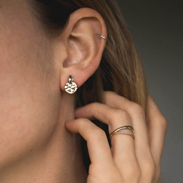 Tide Studs - Solid Gold Jewelry useless