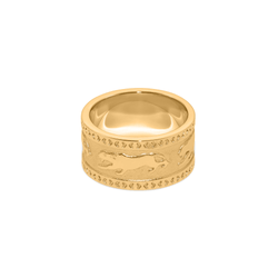 Tiger Band Ring Jewelry taylor-lashae 24ct Gold Vermeil XS - 49 (15.6mm)