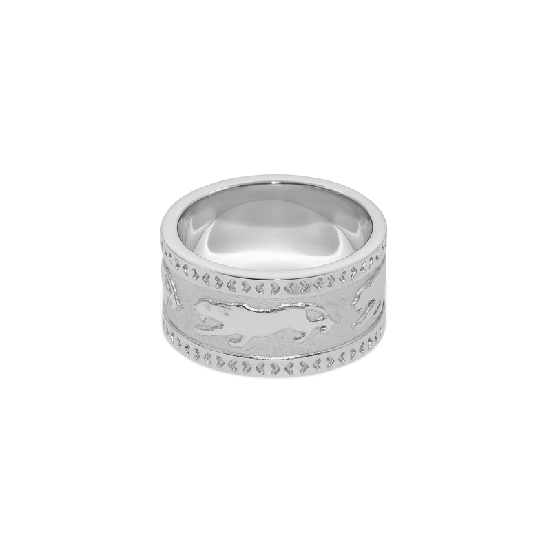 Tiger Band Ring Jewelry taylor-lashae Rhodium Plated 925 Silver XS - 49 (15.6mm)
