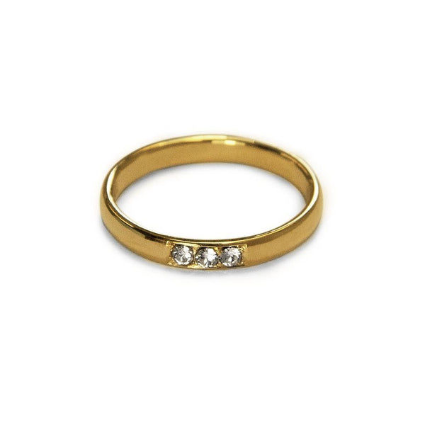 True Love Ring 2 Jewelry daniela-katzenberger 925 Silver Gold Plated XS - 49 (15.6mm)