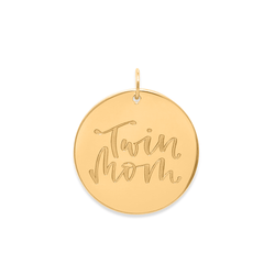 Twin Mom Anhänger #mommycollection Jewelry frau-hoelle 925 Silver Gold Plated
