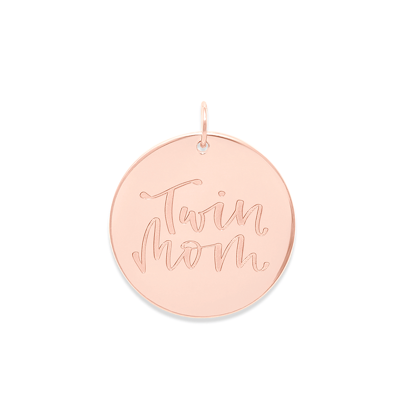 Twin Mom Anhänger #mommycollection Jewelry frau-hoelle 925 Silver Rose Gold Plated