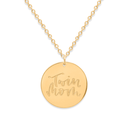 Twin Mom Kette #mommycollection Jewelry frau-hoelle 925 Silver Gold Plated S (45cm)