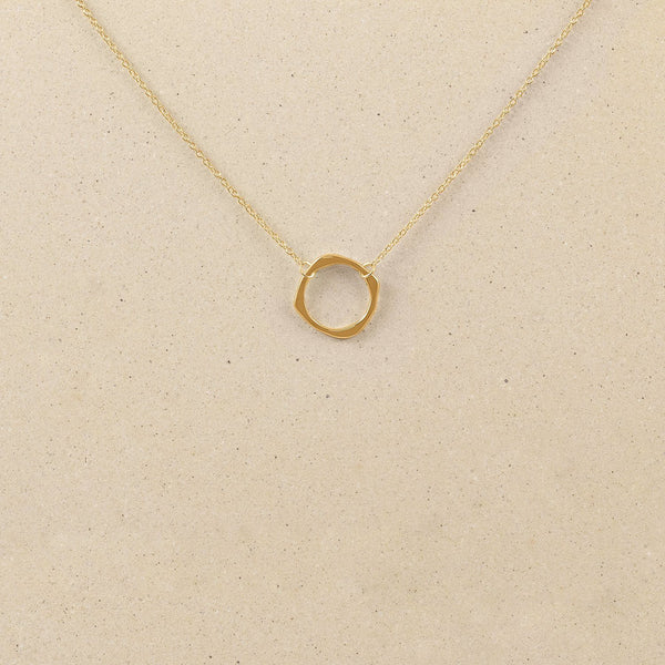 Twist Circle Kette Jewelry stilnest 24ct Gold Vermeil S (45cm)