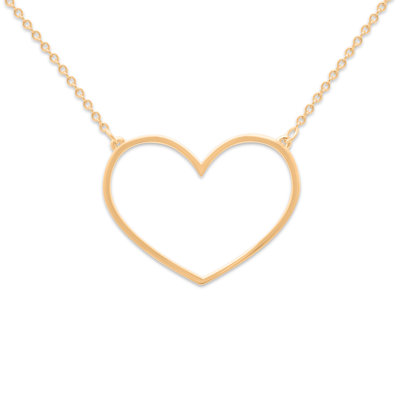 Unbreakable Heart Kette Jewelry tiffani-beaston M (60cm) 925 Silver Gold Plated