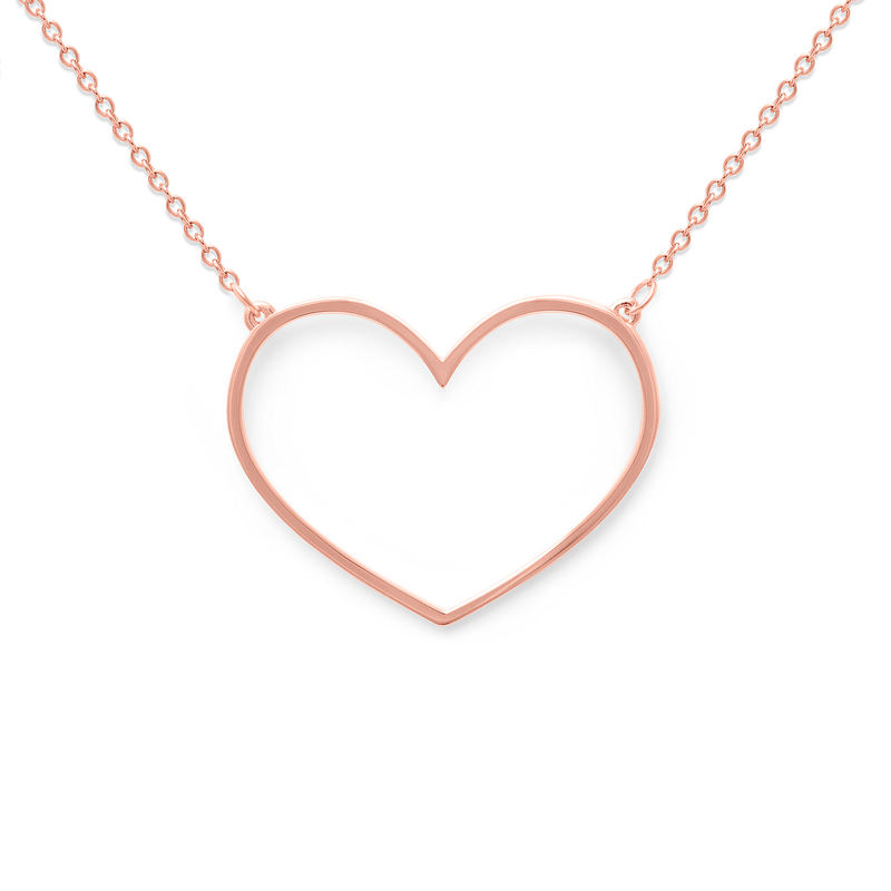 Unbreakable Heart Kette Jewelry tiffani-beaston M (60cm) 925 Silver Rose Gold Plated