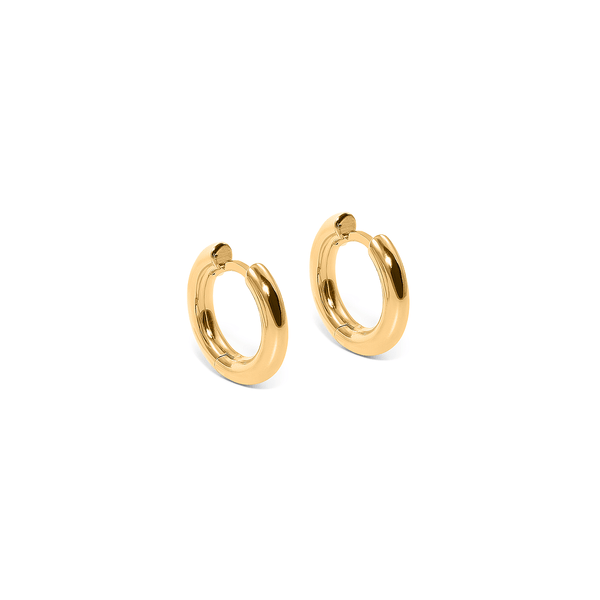 Use Less Hoops (Pair) Jewelry useless 24ct Gold Vermeil