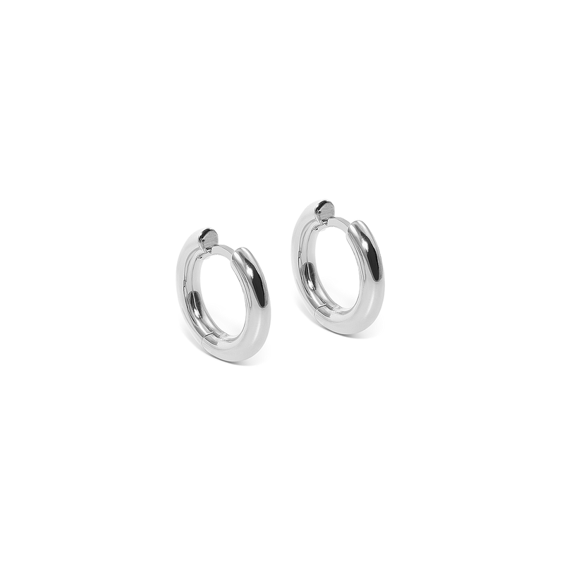 Use Less Hoops (Pair) Jewelry useless 925 Silver
