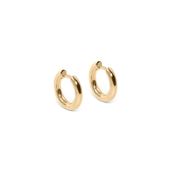 Use Less Hoops (Pair) - Solid Gold Jewelry useless 14ct solid Gold