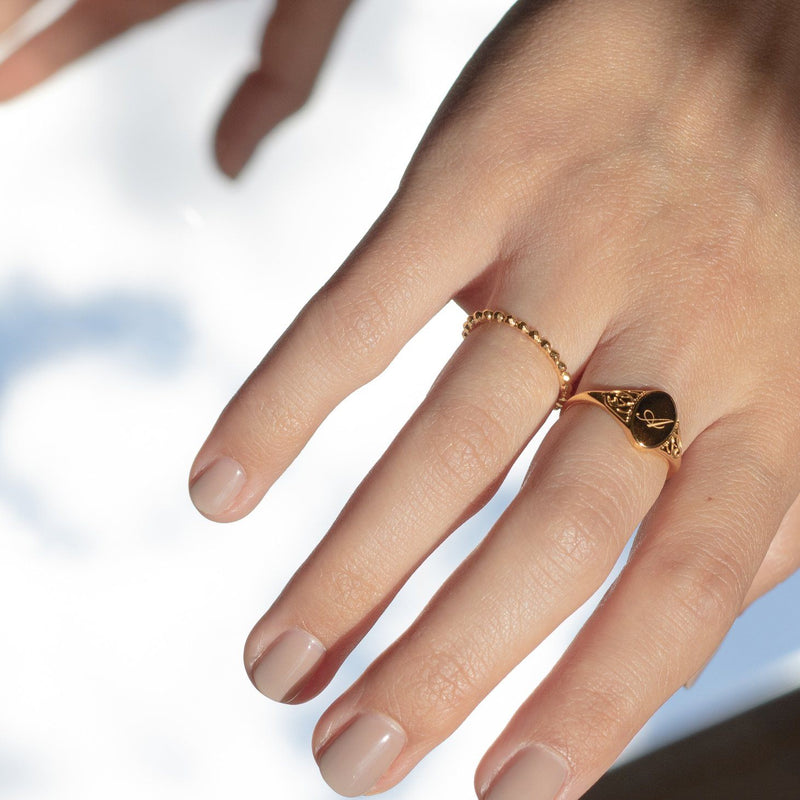 Victorian Initial Ring Jewelry Stilnest