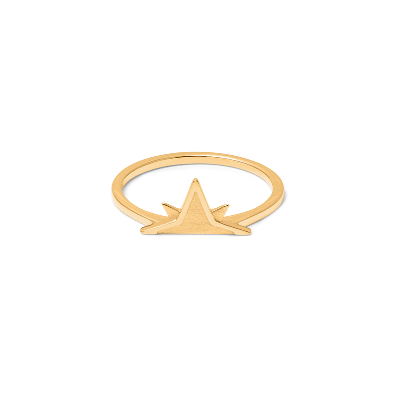Wanderlust Stackable Ring Jewelry phiaka 925 Silver Gold Plated XS - 49 (15.6mm)
