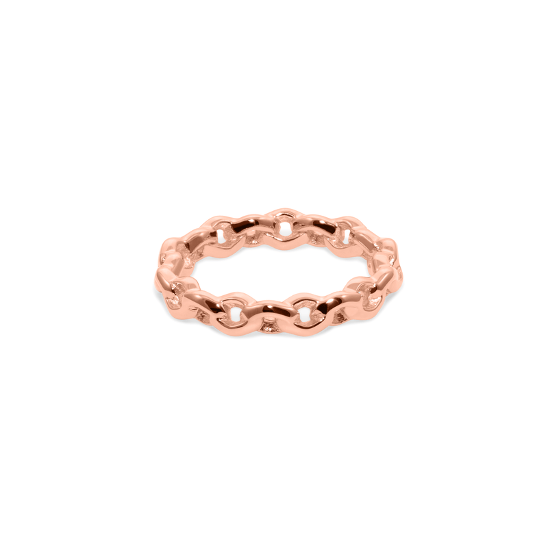 YOU CAN Ring Jewelry janasdiary 925 Silver Rose Gold Plated XS - 49 (15.6mm)