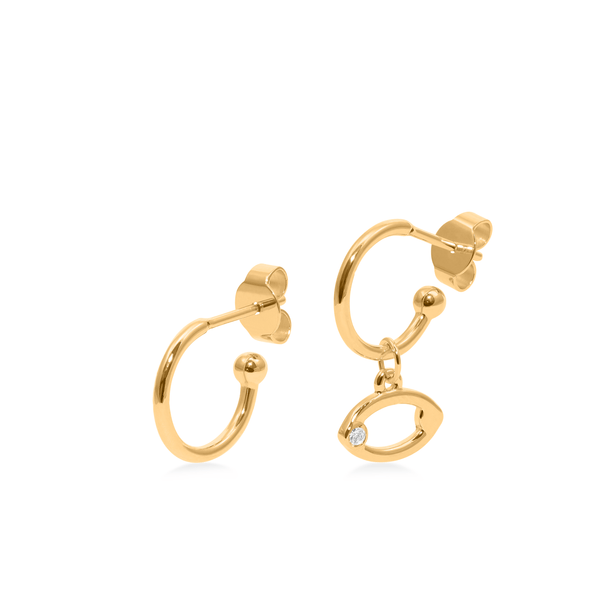 Zodiac Hoops + Cancer Anhänger Jewelry luisa-lion 24ct Gold Vermeil