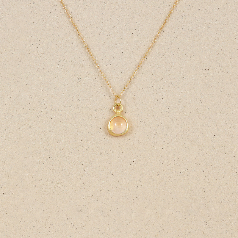 Zodiac Birthstone Necklace 14ct Solid Gold