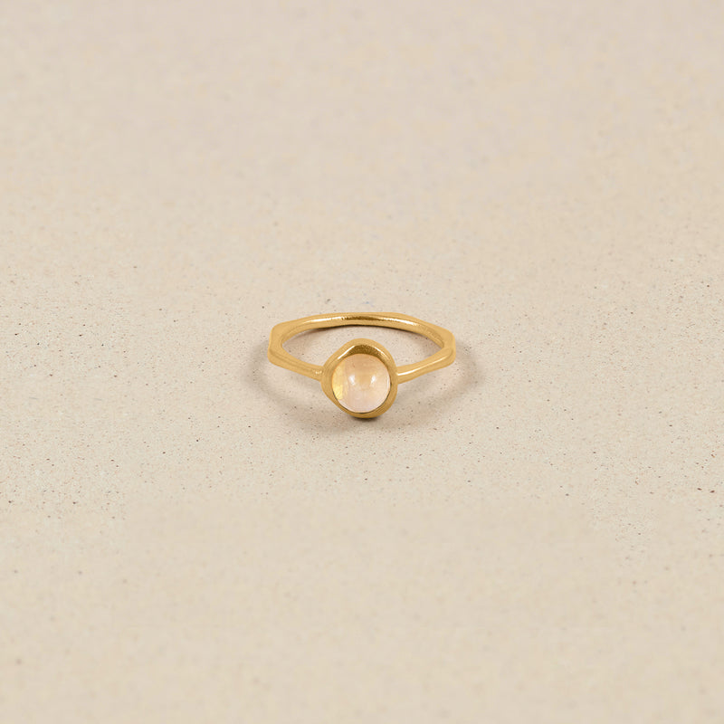 Zodiac Birthstone Ring 24k Gold Vermeil