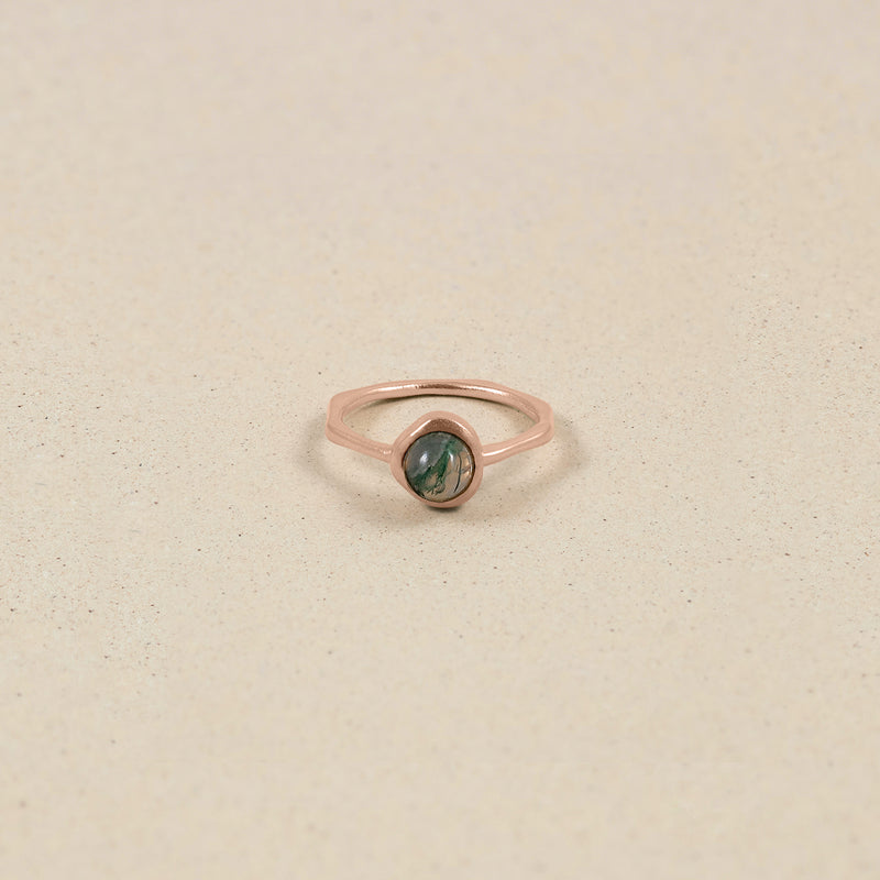 Zodiac Birthstone Ring Rose Gold Vermeil
