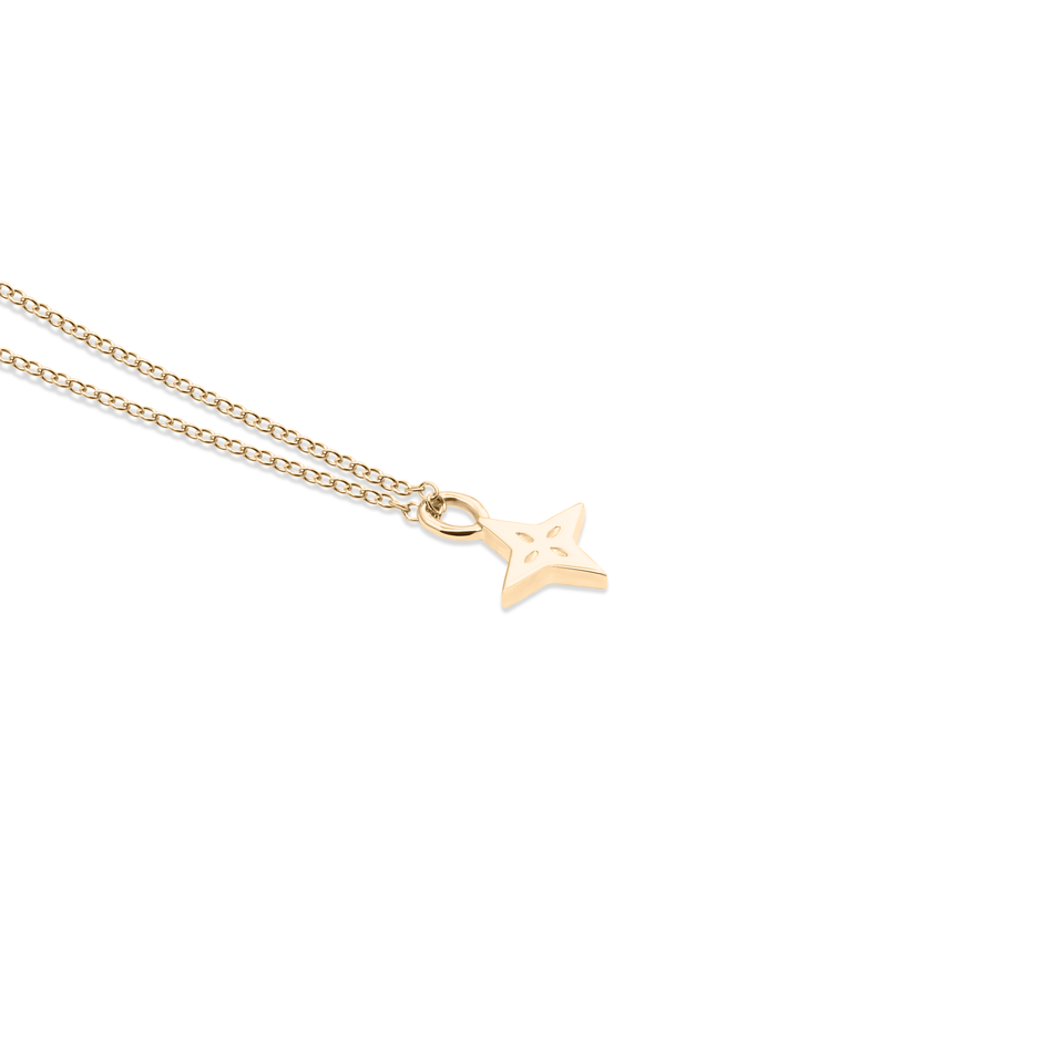 Shooting Star Necklace 14 ct Solid Gold