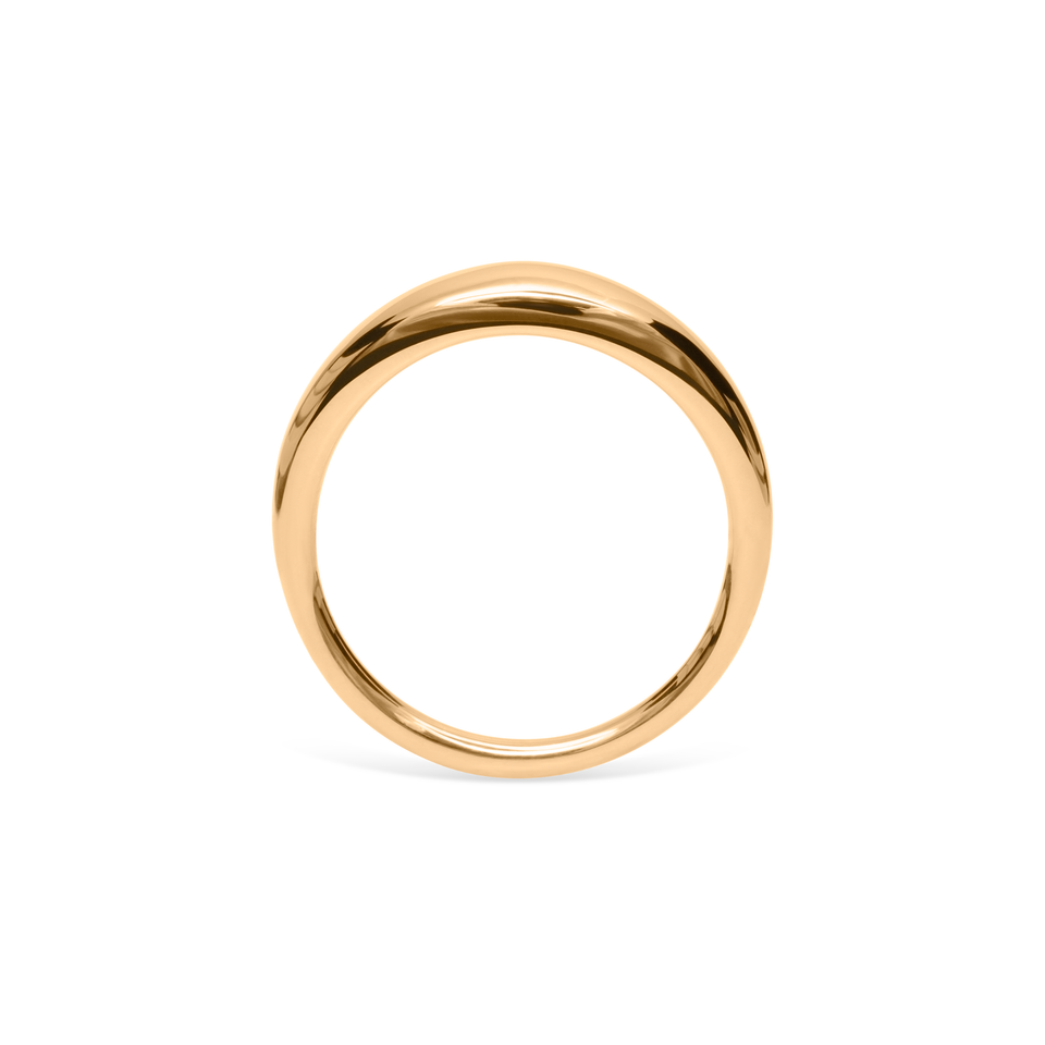 Bombé Bold Ring Solid Gold 14 ct