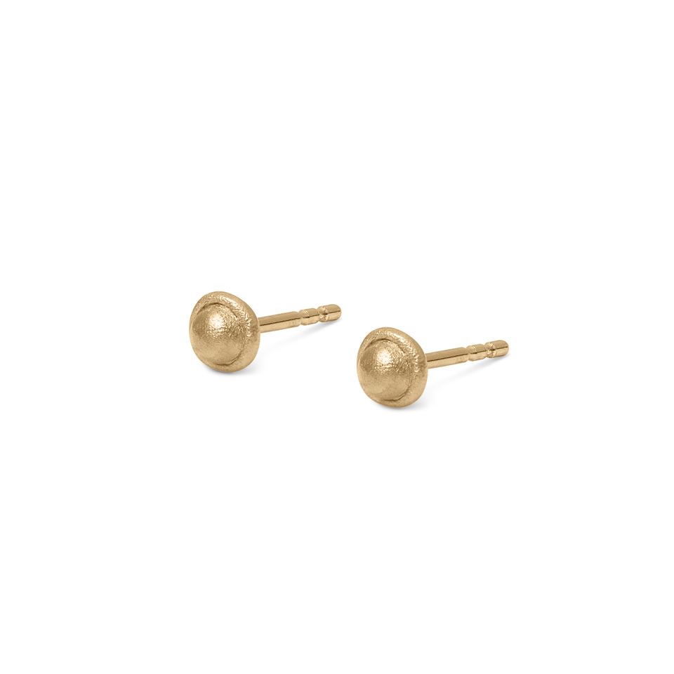 Fluid Stud Earrings Solid Gold 14 ct