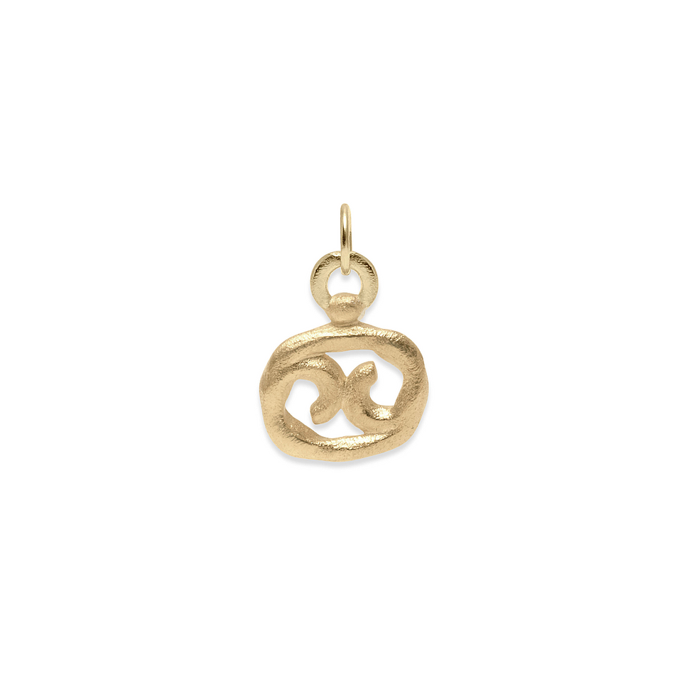 Zodiac Charm Pendant (Cancer) Solid Gold 14 ct