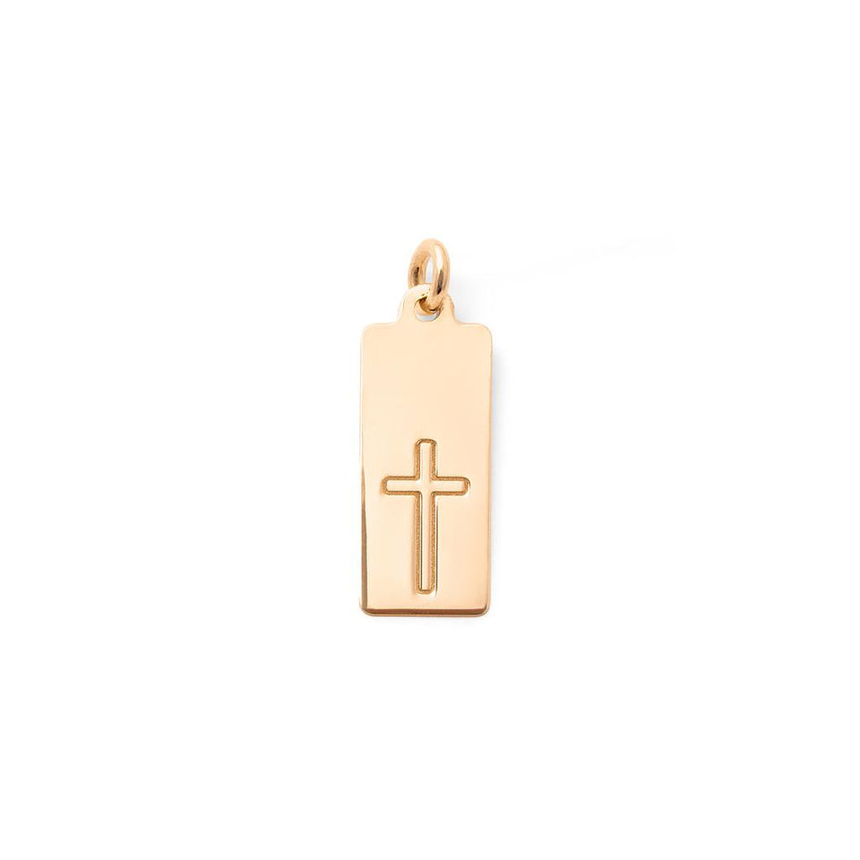 Make a Wish Cross Tag Pendant
