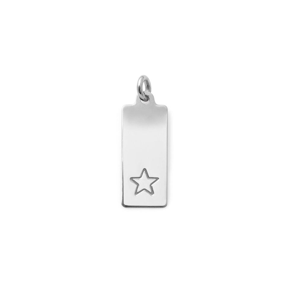 Make a Wish Star Tag Pendant