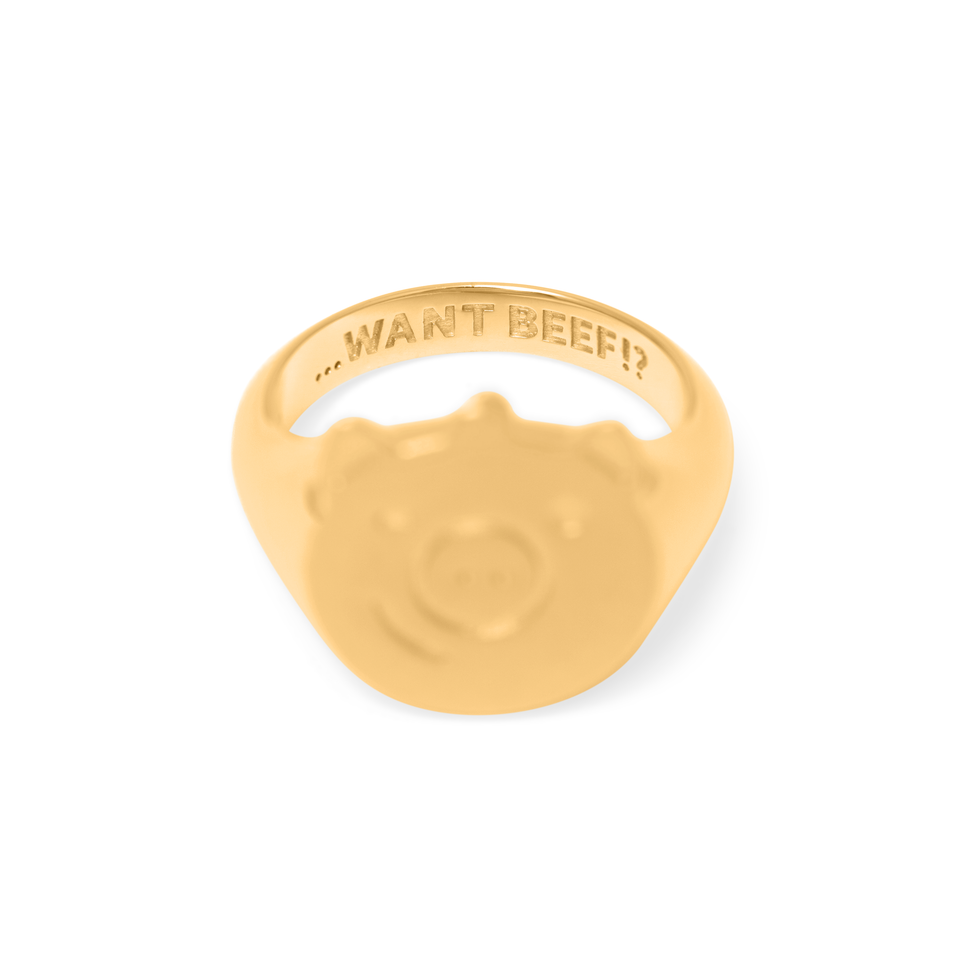 Gold Pigger Ring Men