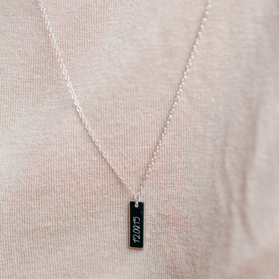 Memory Numbers Tag Necklace